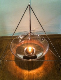 """""""The Looking Glass"""" 2014 Designed and fabricated by the artist Madison Wanamaker. Steel, Fire, Crystal, Water. *Price upon request"""