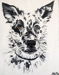 """Toby"" 2015 Acrylic on Canvas"