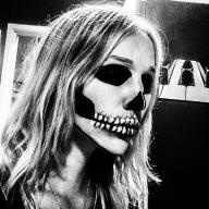 Simple Skull- Ben Nye and Mehron brand Face Paint