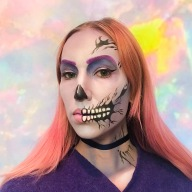Pastel Zombie- Ben Nye and Mehron brand Face Paint